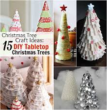 christmas tree craft ideas 15 diy tabletop christmas trees