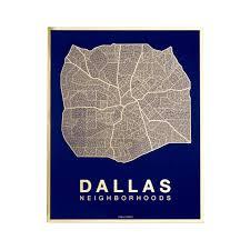 Maps Dallas by Native Maps Dallas Gold Foil Print Huckberry
