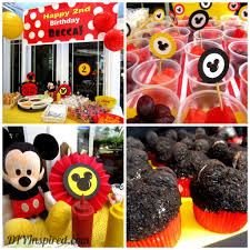Mickey Mouse Baby Shower Corsage Party Hat Candy Buffet Table Mickey Mouse Birthday Pinterest