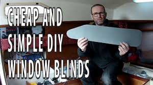 cheap and simple diy window blinds curtains for our yacht youtube