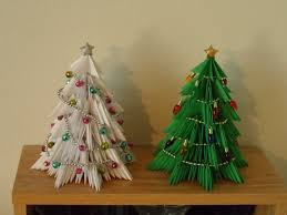 3d origami christmas trees made with approximately 325 p u2026 flickr