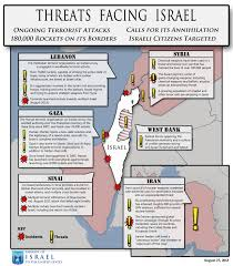 Isreal Map Threats Facing Israel Map