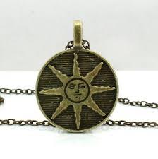 metal pendant necklace images Dark souls metal solaire of astora sun symbol necklace warriors jpg