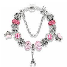 Paris Themed Charm Bracelet Bracelets