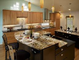 kitchen island with granite top and breakfast bar kitchen and decor