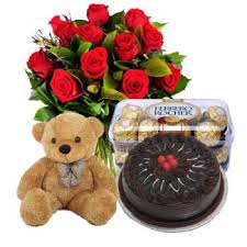 teddy delivery bali in total flower delivery roses cake chocolates