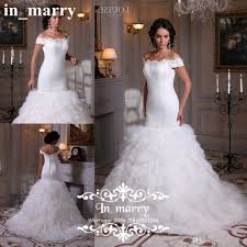 cascading ruffles plus size lace wedding dresses 2017 mermaid off
