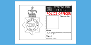 identity badge role play template police id badge