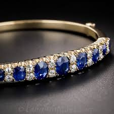 bracelet diamond sapphire images Antique sapphire and diamond bangle bracelet jpg