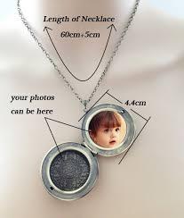 locket pendant necklace images Long chain necklace bell shape bronze flower locket pendant jpg