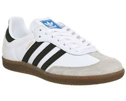 white samba adidas samba white black granite his trainers