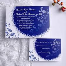 Popular Personal Wedding Invitation Cards Personalized Unique White And Blue Summer Wedding Invitation Card