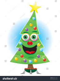 animated happy christmas tree stock vector 88613476 shutterstock