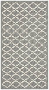 Black And Beige Area Rugs Amazon Com Safavieh Courtyard Collection Cy6919 246 Anthracite