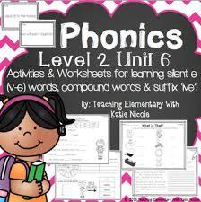 2nd grade phonics resources for silent e v e compound words