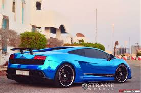 diamond lamborghini cromo blue lamborghini gallardo superleggera lowered on strasse