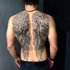 collection of 25 great wings tattoos on back