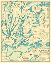 Listening Map Illustrated Historical Map Of Lake Athapapuskow Imgur