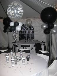 75th birthday black white decoration black and white