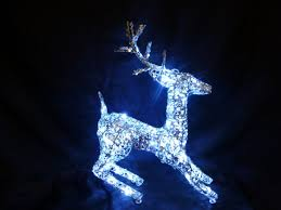 decorations light silver reindeer led lights outdoor dma