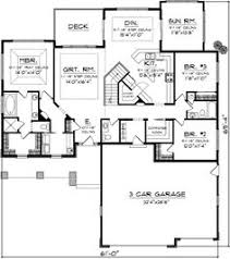 3 Bedroom Floor Plans With Garage Country Style House Plans 2560 Square Foot Home 1 Story 3