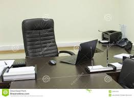 bureau manager manager s office computer on the table stock image image of