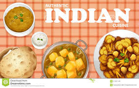 indian food stock vector image 51267149