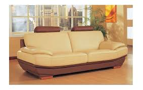 Colored Leather Sofas Modern Dual Colored Leather Sofa Salvatore 2 375 00