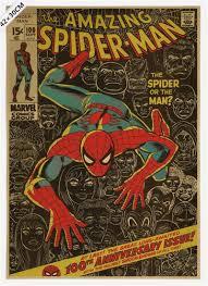 vintage classic comics famous superhero spiderman poster bar cafe