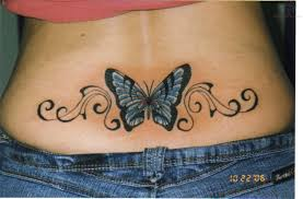 free lower back butterfly tattoos designs and ideas back
