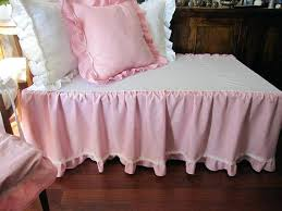 Daybed Dust Ruffle Pink Crib Bed Skirt Tiered Dust Ruffle Baby Boy Shabby Chic