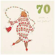 70th Birthday Cards Woodmansterne 70th Birthday Card Bluewater 2 75
