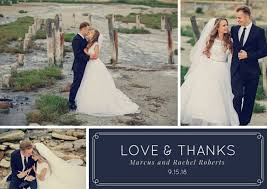 Wedding Thank You Thank You Card Templates Free Sample Example Format Free