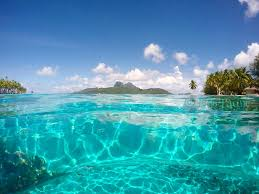 50 shades of turquoise in the bora bora lagoon tahiti