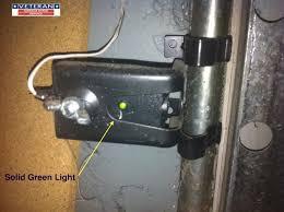 Legacy Overhead Garage Door Opener by The Light On One Of The Safety Eye Sensors On My Garage Door