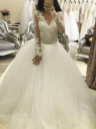 wedding dresses with sleeves buy trendy v neck sleeves gown wedding dress with lace