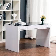 fresh white glass desks 56 in interior decorating with white glass