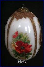 antique german kugel ornament dresden die cut milk