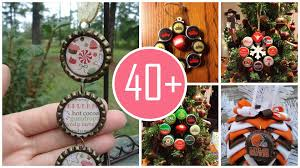 decorate your 2015 christmas tree with cute bottle cap ornaments
