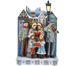 jim shore masterpiece musical carolers with lit l post qvc