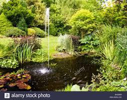 fountain pond garden stock photos u0026 fountain pond garden stock