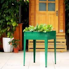 elevated planters 32x16 raised planter boxes green wood flower