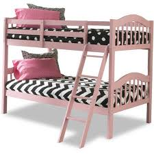Storkcraft Long Horn Twin Over Twin Solid Hardwood Bunk Bed Pink - Pink bunk beds for kids