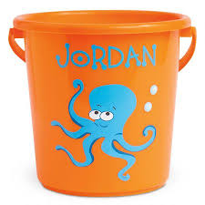 personalized buckets in the sand plastic lillian vernon