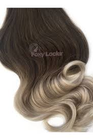 foxy extensions vanilla frappe regular seamless clip in human hair extensions 125g