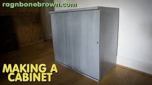 Sliding Door Kitchen Cabinets by Making A Cabinet With Sliding Doors Youtube