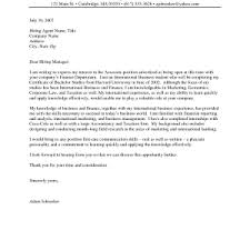 high internship cover letter examples example college