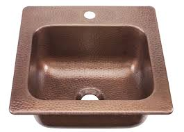 Antique Sinks Sinkology Seurat Drop In Handmade Pure Solid Copper 15 In 1 Hole