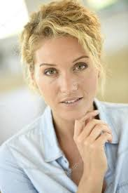 middle aged beautiful middle aged blond woman stock photo goodluz 128045710