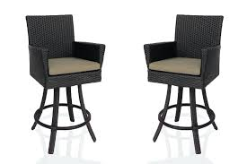 Outdoor Wicker Swivel Chair Bar Stool Royer Outdoor Wicker Swivel Bar Stool Wicker Swivel